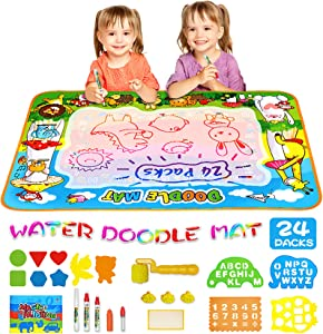MOZOOSON Educational Toy-Water Doodle Mat, Kids Large Coloring Mat 40