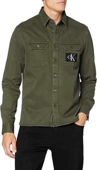Calvin Klein Gmd Twill Overshirt Reg + Shirt Camisa para Hombre: Amazon.es: Ropa y accesorios