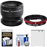 Olympus TCON-T01 Telephoto Converter Lens for Tough TG-3, TG-4 & TG-5 Waterproof Digital Camera + CLA-T01 Conversion Adapter + Li-90B Battery Kit
