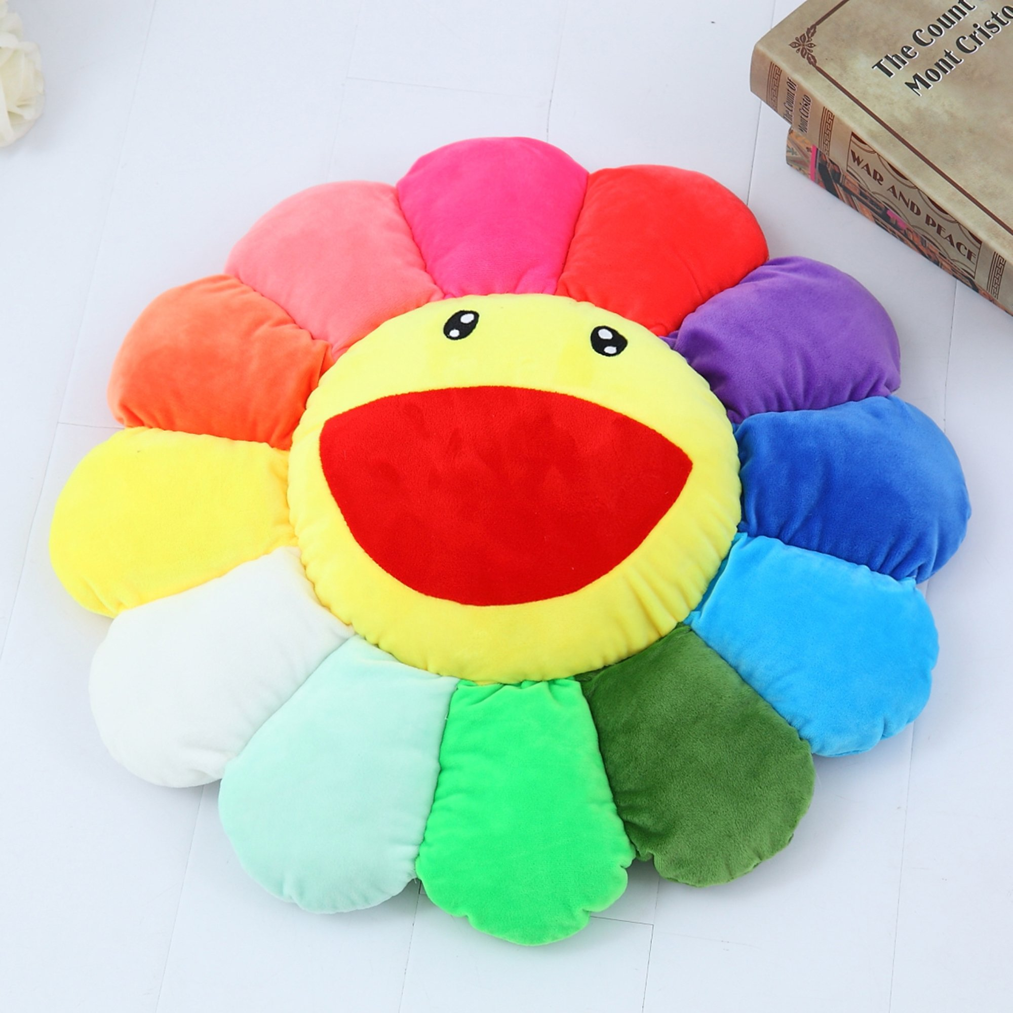 Vercart Cute Cuddly Hugging Pillow Stuffed Animals Plush Soft Cushion Pillow Toy Multicolor 22 Inches