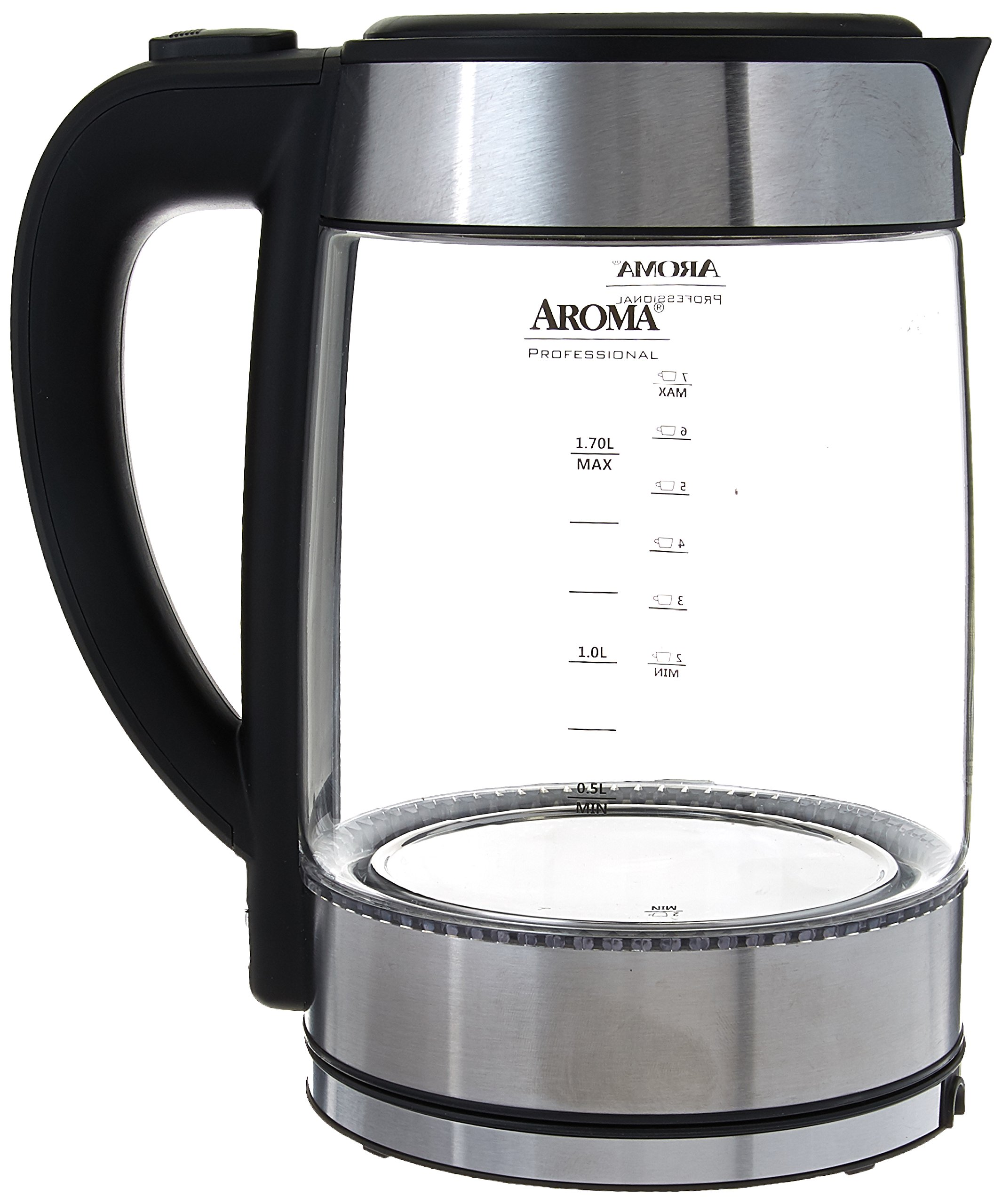 Aroma Housewares (AWK-165M Electric Water Kettle, 1.7 L, Stainless Steel