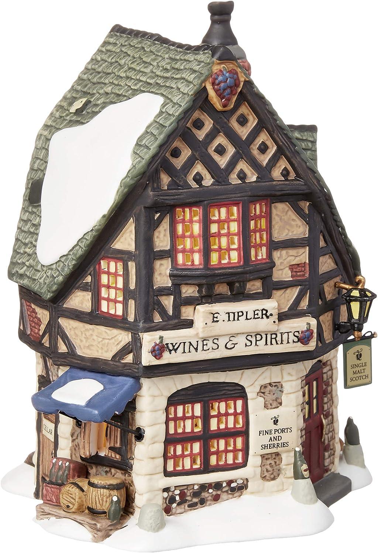 B000B8H1P8 Department 56 Dickens' Village E Tipler Agent Wine Spirits Building 81JFXtc5CfL