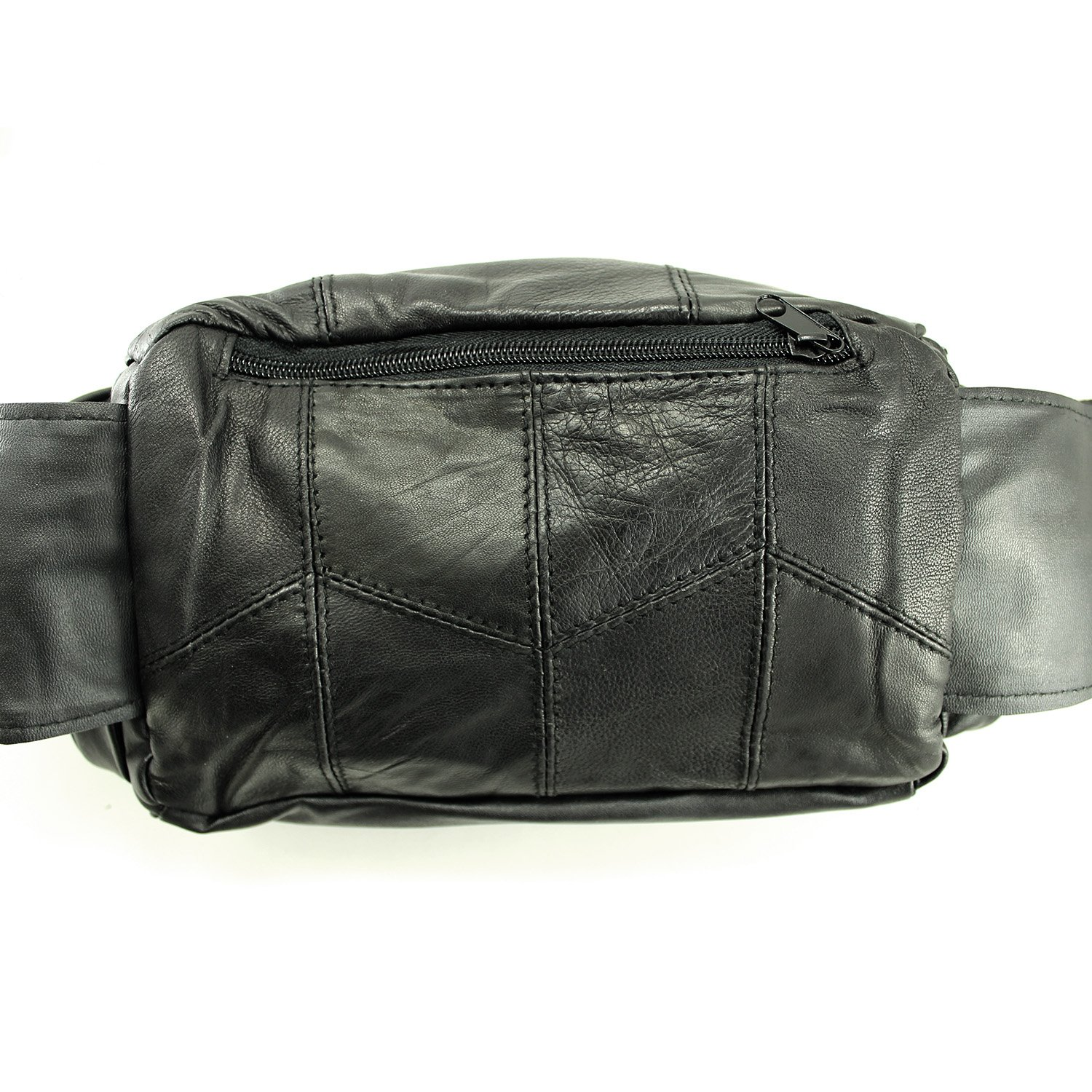 Enimay Genuine Leather Fanny Waist Pack Hiking Camping Pack