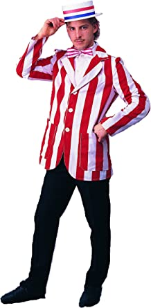 Striped Blazer Red and White Boater and Bow tie Barber 1920s fancy dress