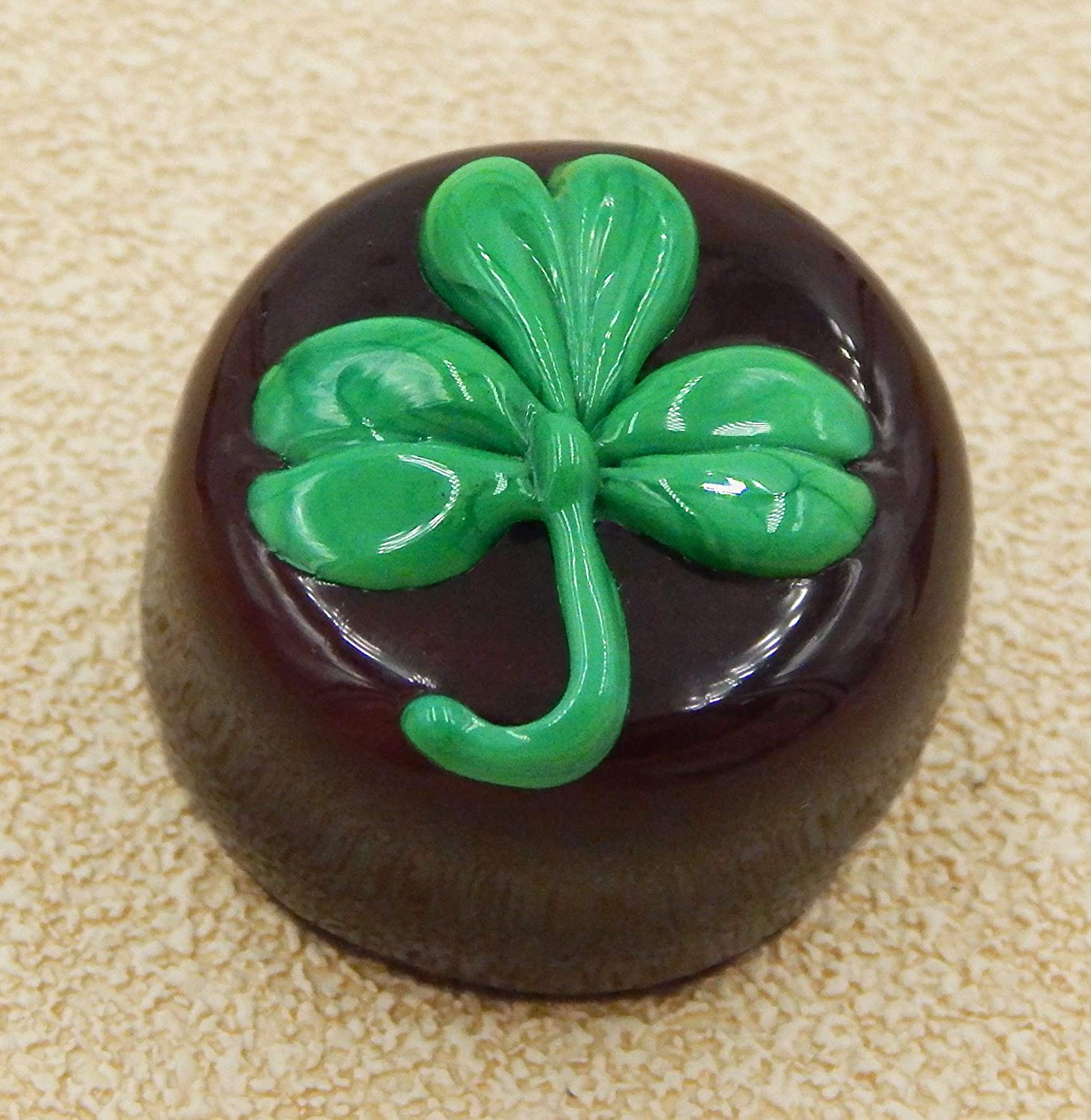 Patricks Day Chocolate Shamrock Handmade Sculpture Gift Figurine Home Art Glass St