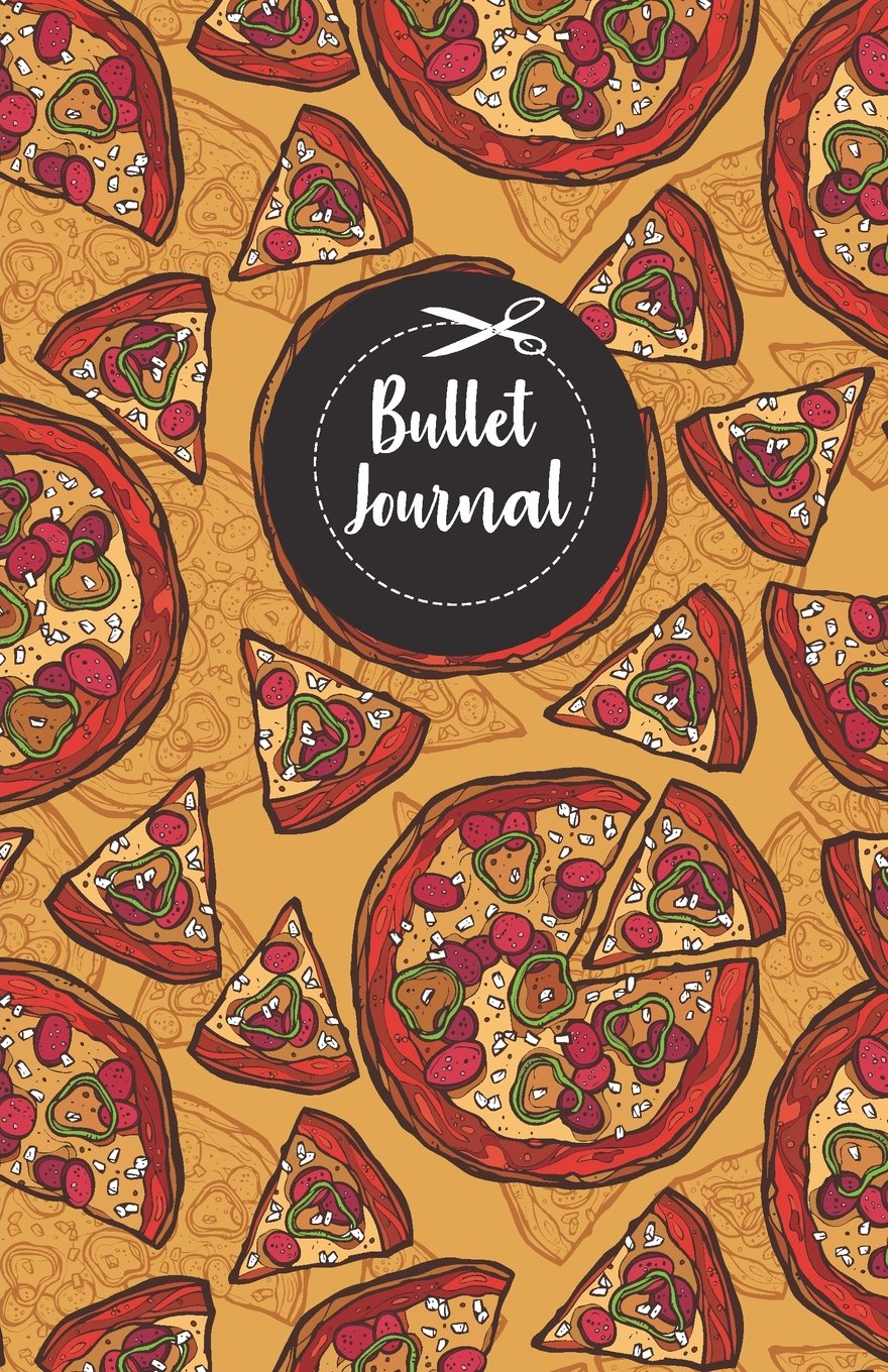 Bullet Journal Red Cute Pizza Color Drawing Pattern