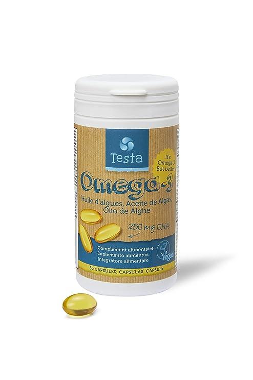 Testa Omega-3 Aceite de Algas- Omega 3 Vegan - Vegan DHA - DHA