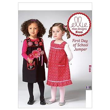 Amazon.com: Kwik Sew Patterns K0120 Toddlers Jumper Sewing Template ...