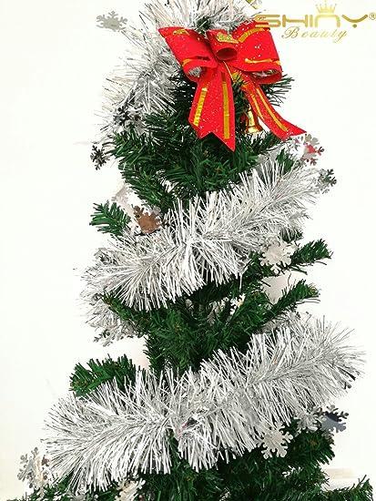 shinybeauty hanging holiday tinsel garland wholesale christmas garland artificial christmas decor garland outdoor tg002 - Christmas Garland Wholesale