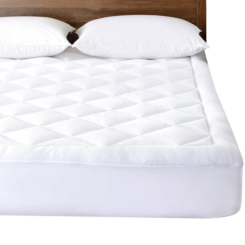 Basic más allá de hipoalergénico acolchado superior MicroPlush Protector de colchón colchón pad pantalla doble: Amazon.es: Hogar