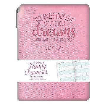 Tallon 2019 A5 - Agenda familiar y bolígrafo (tapa blanda ...
