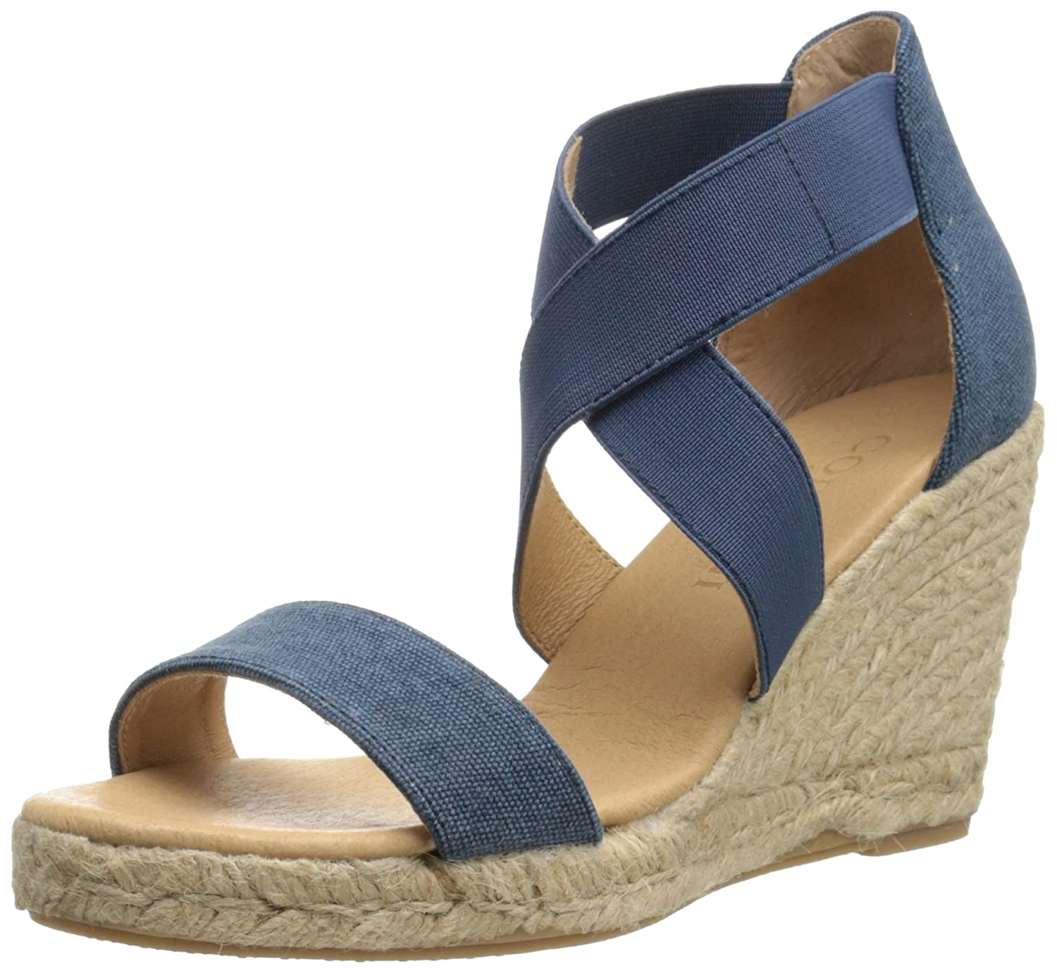 Cordani Women's Enright Espadrille Wedge Sandal B01C7HTBIK 38 M EU / 8 B(M) US|Denim Blue