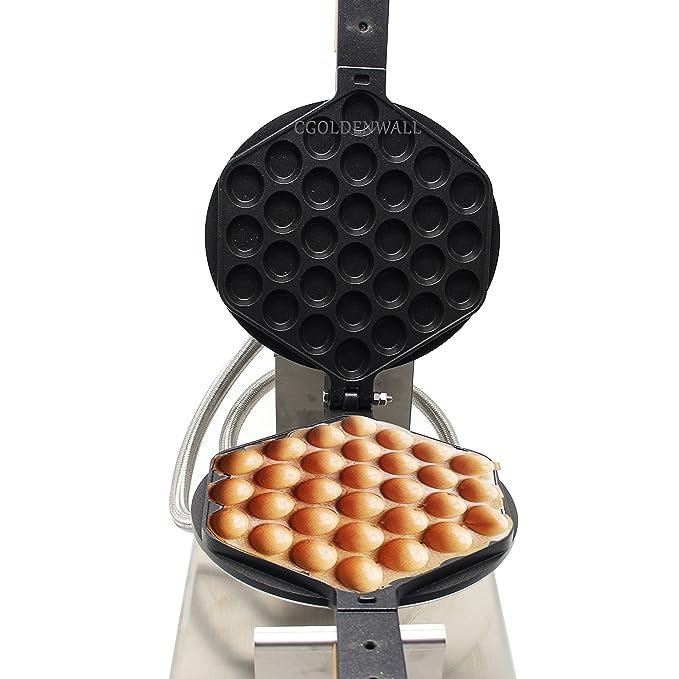 CGOLDENWALL NP-547 Gofrera Máquina de Gofre con Forma de Huevo del Estilo de Hong Kong Waffle Maker Eléctrica Antiadherente de Acero Inoxidable con Control ...