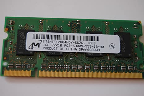 Amazon.com: MICRON Tecnología Notebook memoria RAM 2 GB DDR2 ...