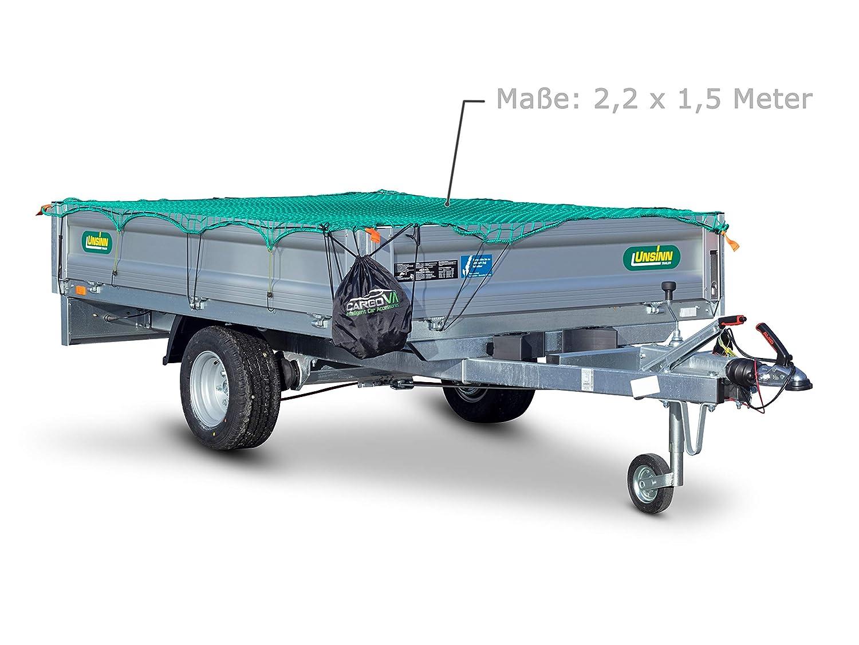 Haken /& Markierung CargoVA Intelligentes Anh/ängernetz 2,2x1,5M inkl