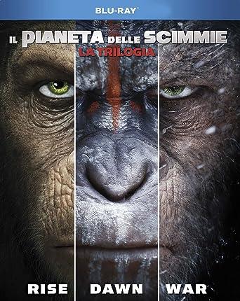 Il Pianeta Delle Scimmie La Trilogia 3 Blu Ray Amazonit