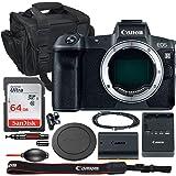 Canon EOS R Mirrorless Digital Camera (Body Only) Bundle - 3075C002 + 64GB High Speed SDXC Memory & Shoulder Gadget Case