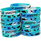 Gypsy Jade's Shark Party Favors - Wristbands for Jawsome! Shark Themed Parties - Pack of 15!
