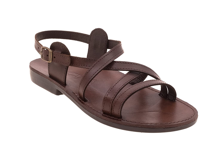 Noah's Women Leather Flat, Open, Anatomic Biblical Sandals B07CMKPWJW 9 B(M) US