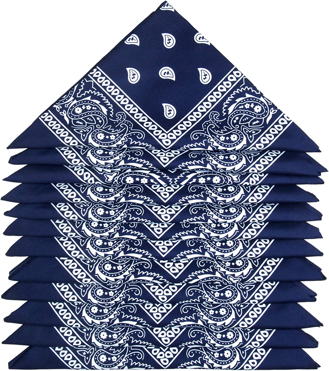 Novelty Cowboy Scarf for Fashion Coordinate 12 Packs Paisley Neckerchiefs ZWOOS Bandanas for Men and Women