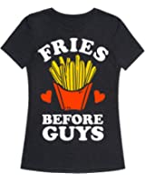 Fries Before Guys Womens Fitted Triblend Tee by LookHUMAN