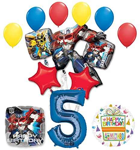 Amazon Mayflower Products The Ultimate Transformers 5th Birthday Party Supplies Balloon Decorations Toys Games