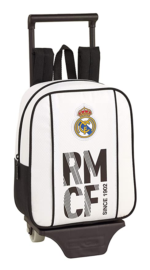 Real Madrid 611854280 2018 Mochila Escolar, 28 cm, Blanco