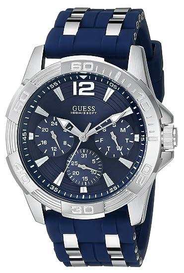 Guess U0366G2 - Reloj para Hombres, Correa de Goma Color Azul: Amazon.es: Relojes