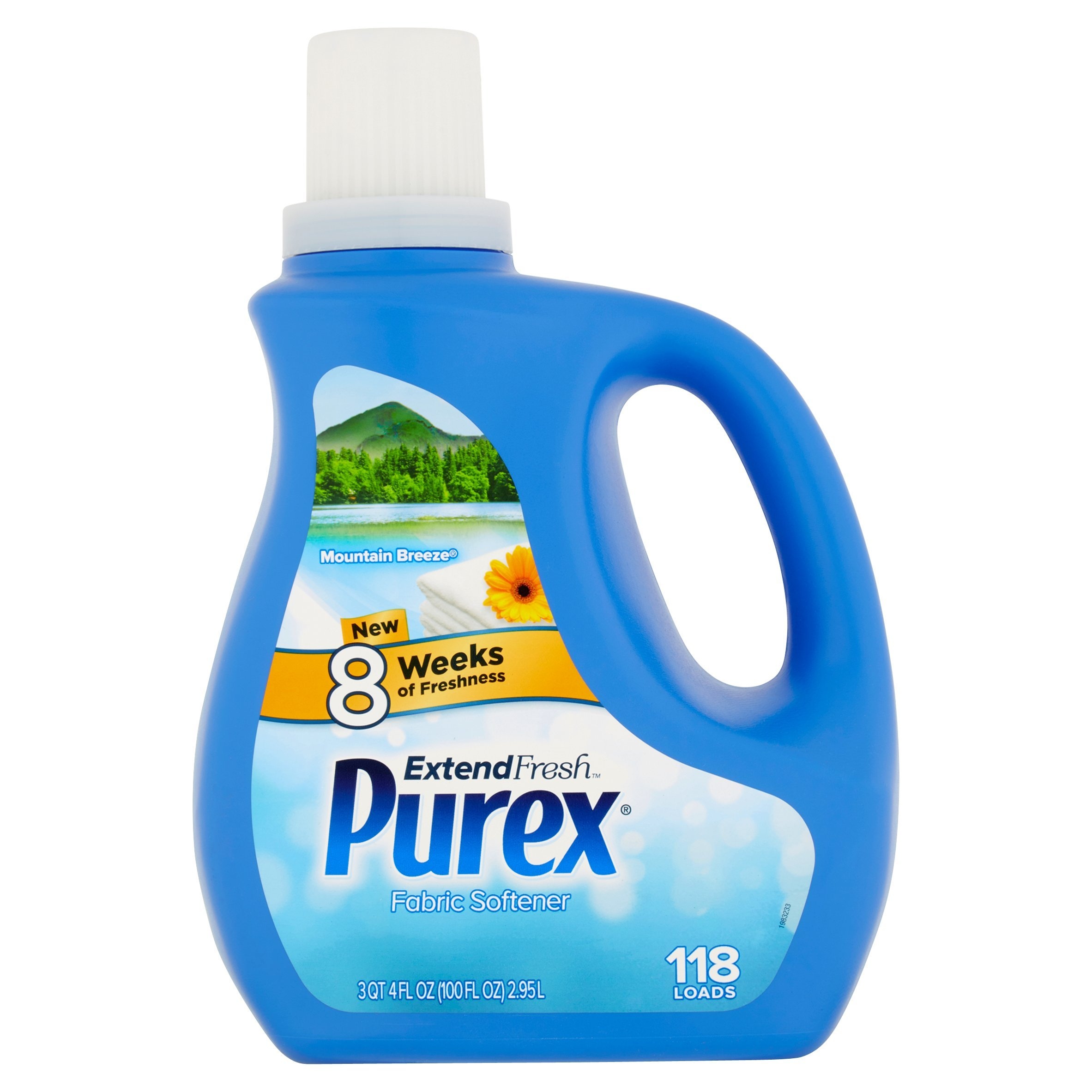 Purex Extend Fresh Mountain Breeze Fabric Softener, 118 Loads, 4 Fl Oz