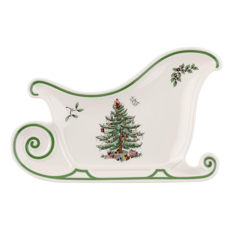 Spode Christmas Tree Embossed Sleigh Plate 1556393