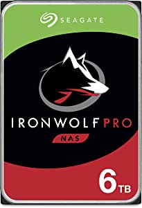 Seagate IronWolf Pro 6TB NAS Internal Hard Drive HDD – CMR 3.5 Inch Sata 6Gb/s 7200 RPM 256MB Cache for Raid Network Attached Storage, Data Recovery Service – Frustration Free Packaging (ST6000NE0023)