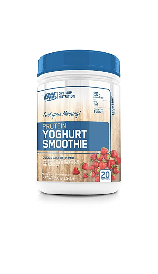 Optimum Nutrition Yogur Smoothie de Proteína con Sabor Fresa - 700 g