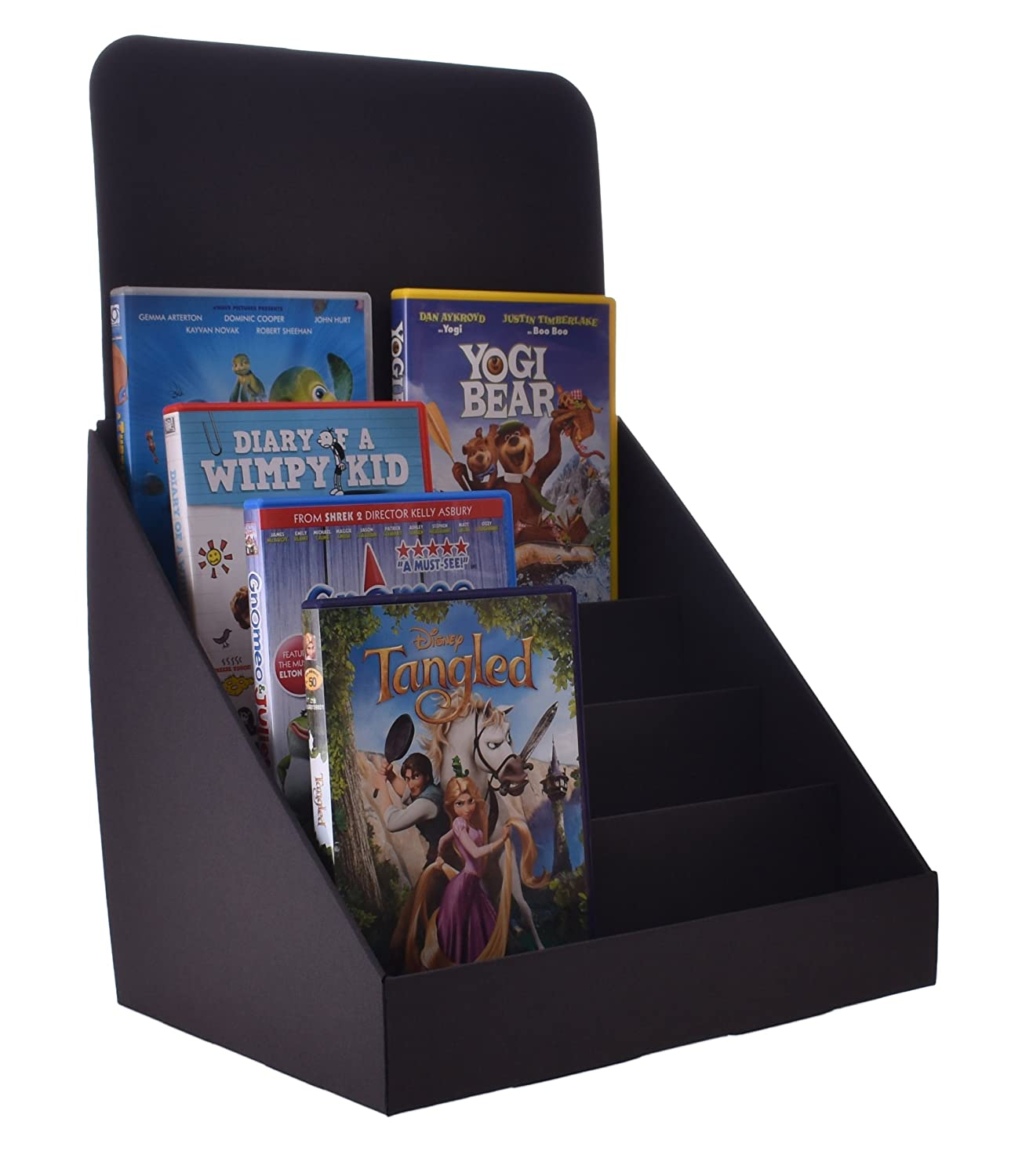 Stand Store 145 Inch 4 Tier Greeting Card Display Stand White Jr