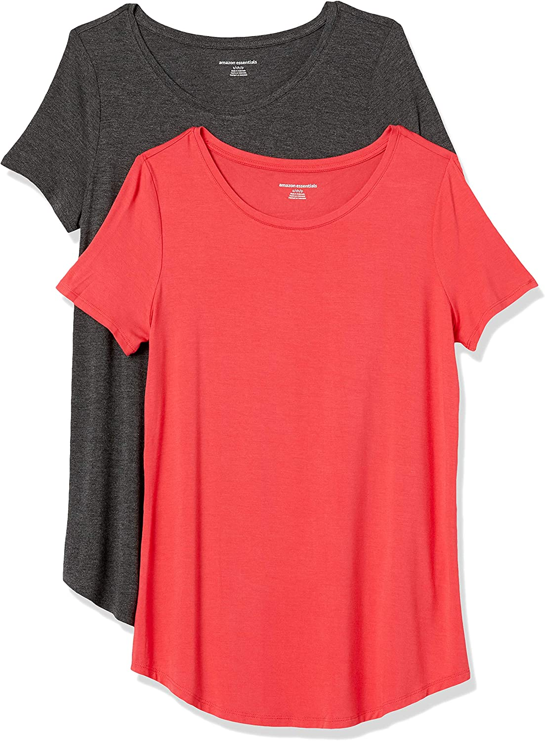 Fashion-t-Shirts Donna 2-Pack Short-Sleeve Scoopneck Tunic Essentials