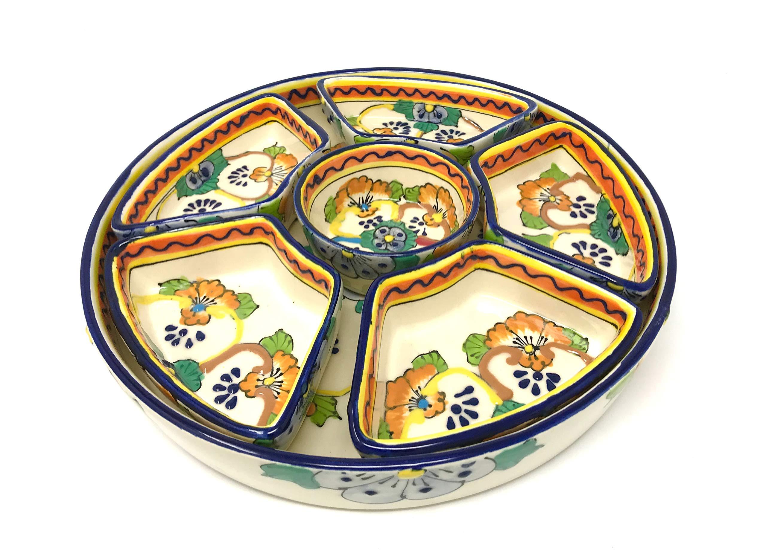 Mexican Talavera Taco Serving Set by Mexican Talavera Pottery (Image #1)
