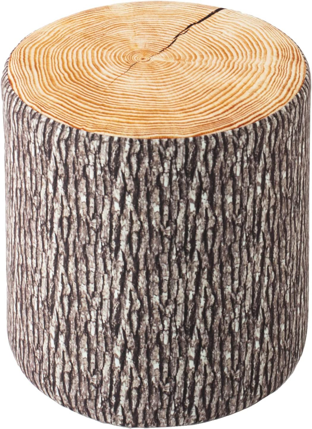 Guidecraft Soft Log Stool: Upholstered Kids Footrest, Ottoman, Stump or Chair - Themed Children Playroom or Classroom Furniture