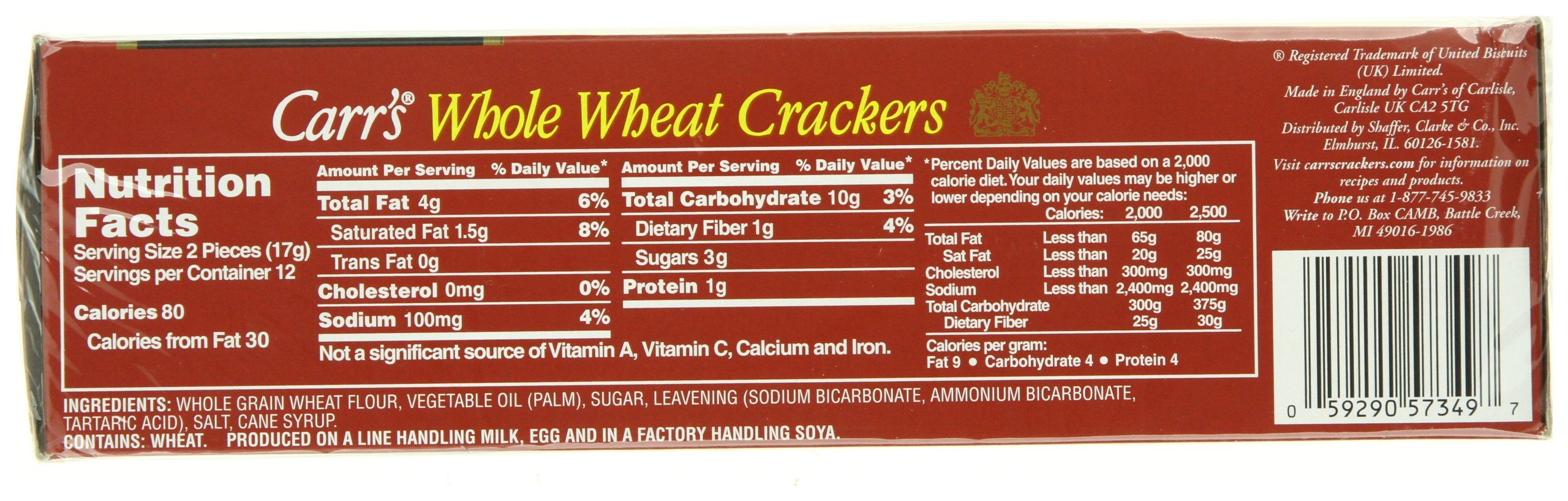 Carr's Whole Wheat Crackers, 7-Ounce Boxes (Pack of 6) by Carr's (Image #6)