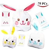 Joyin Toy 75 Pack of Bunny Shape Goodie Treat Party Gift Bags for Party Favors