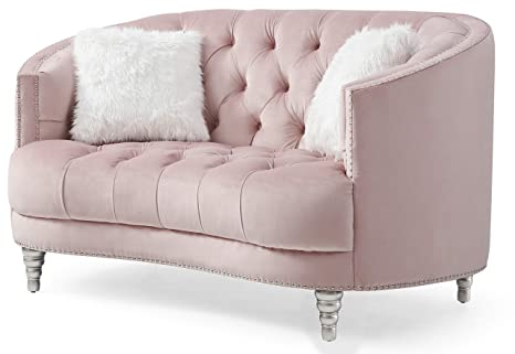 Strange Amazon Com Glory Furniture Dania G854 L Pink Loveseat 36 Onthecornerstone Fun Painted Chair Ideas Images Onthecornerstoneorg