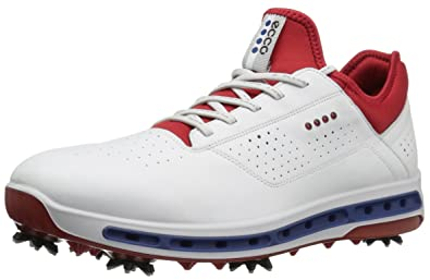 9360d3327e75 ECCO Men s Cool 18 Gore-Tex Golf Shoe White Tomato 40 EU 6