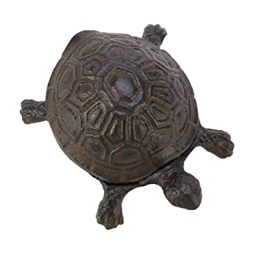 GWARE- Cast Iron Key Hider- Outdoor | Indoor Decoration- Garden Accessory- For Key | Ear Studs | Ring | Paper Clip- 1 Pcs (turtle)