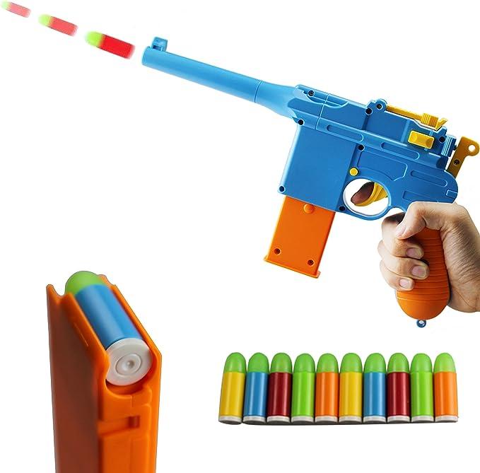 Amazon.com: Zhenduo Pistola de juguete para ratón, 10 balas ...