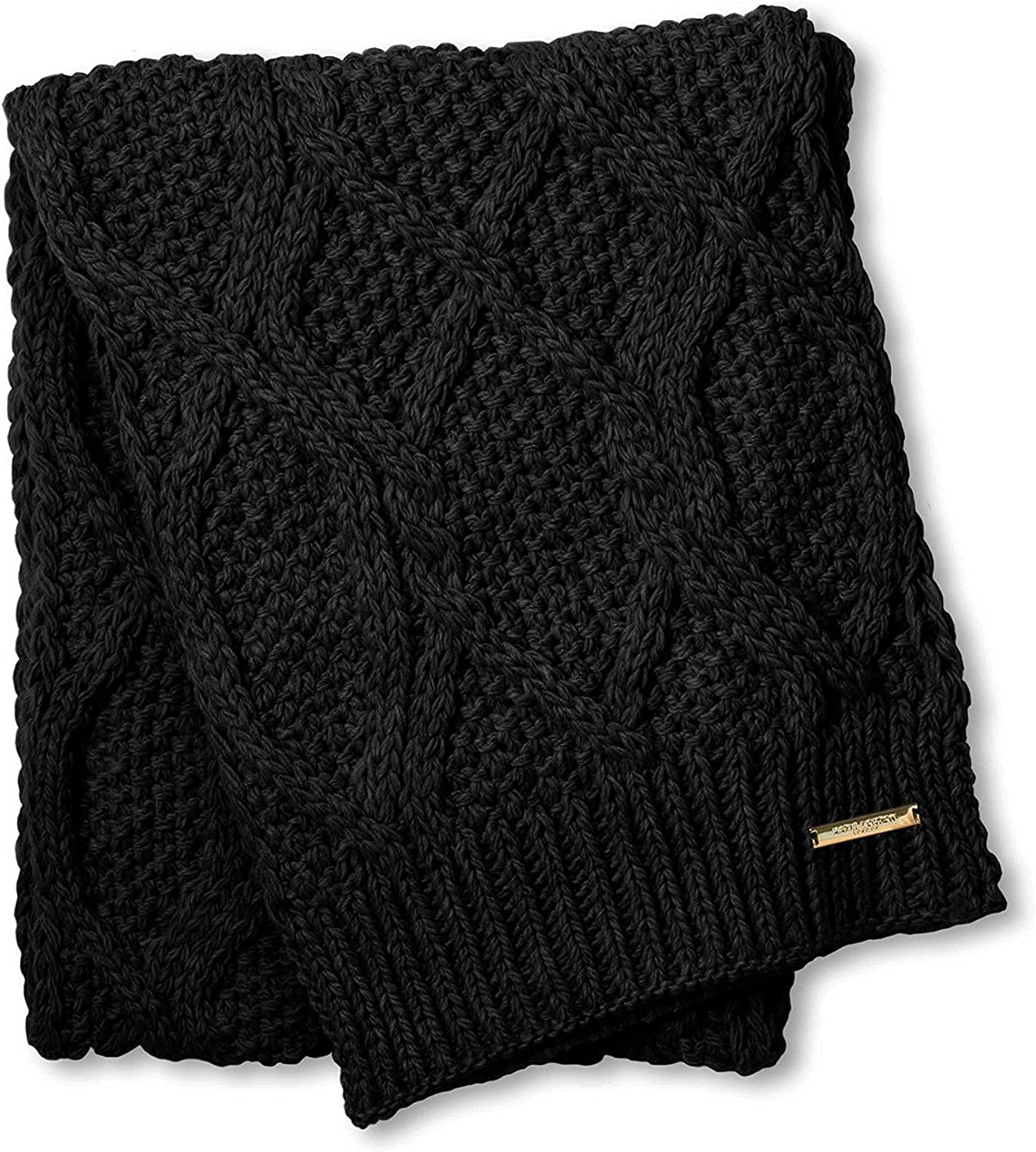 Katie Loxton Ladies black cable knit bobble hat FREE giftwrap and giftbag