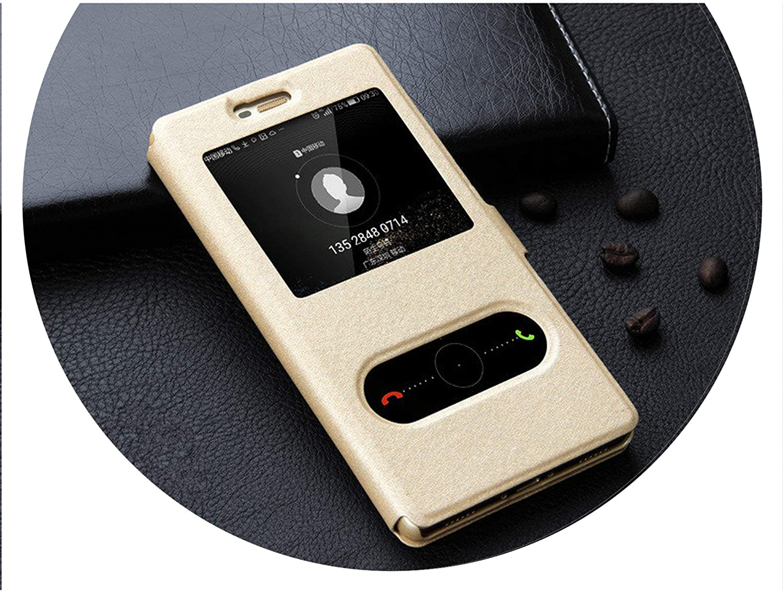Amazon.com: Phone Case for Window View P8 and P9 Lite Flip ...