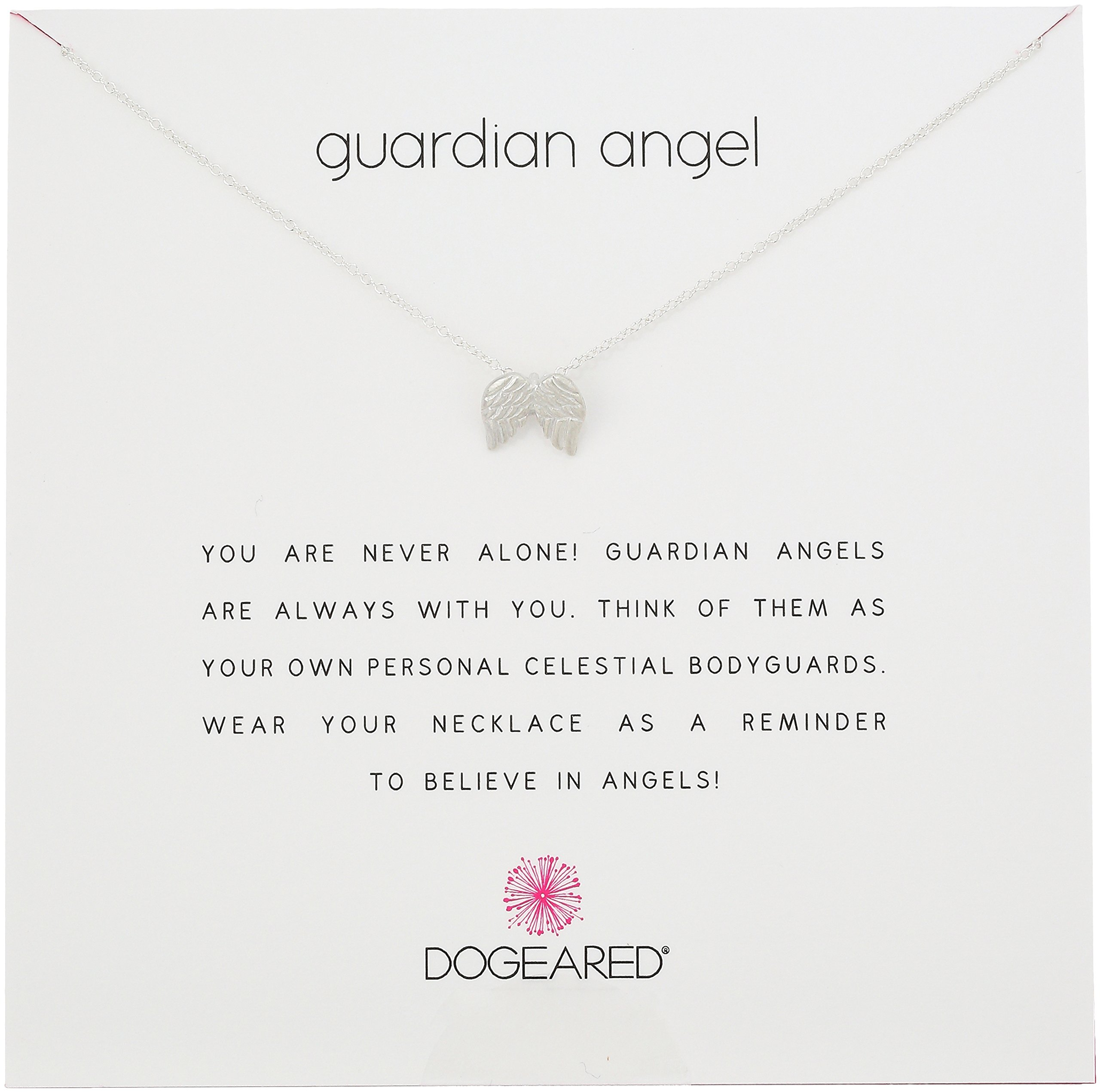Dogeared Reminders Guardian Angel Sterling Silver Angel Wings Charm Necklace, 16''+2'' Extender