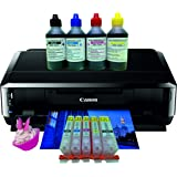 Canon IP7250 Printer with Edible Ink Accessory Kit - Refillable Cartridges, 400ml Edible Ink & 25 Sheets Wafer Paper