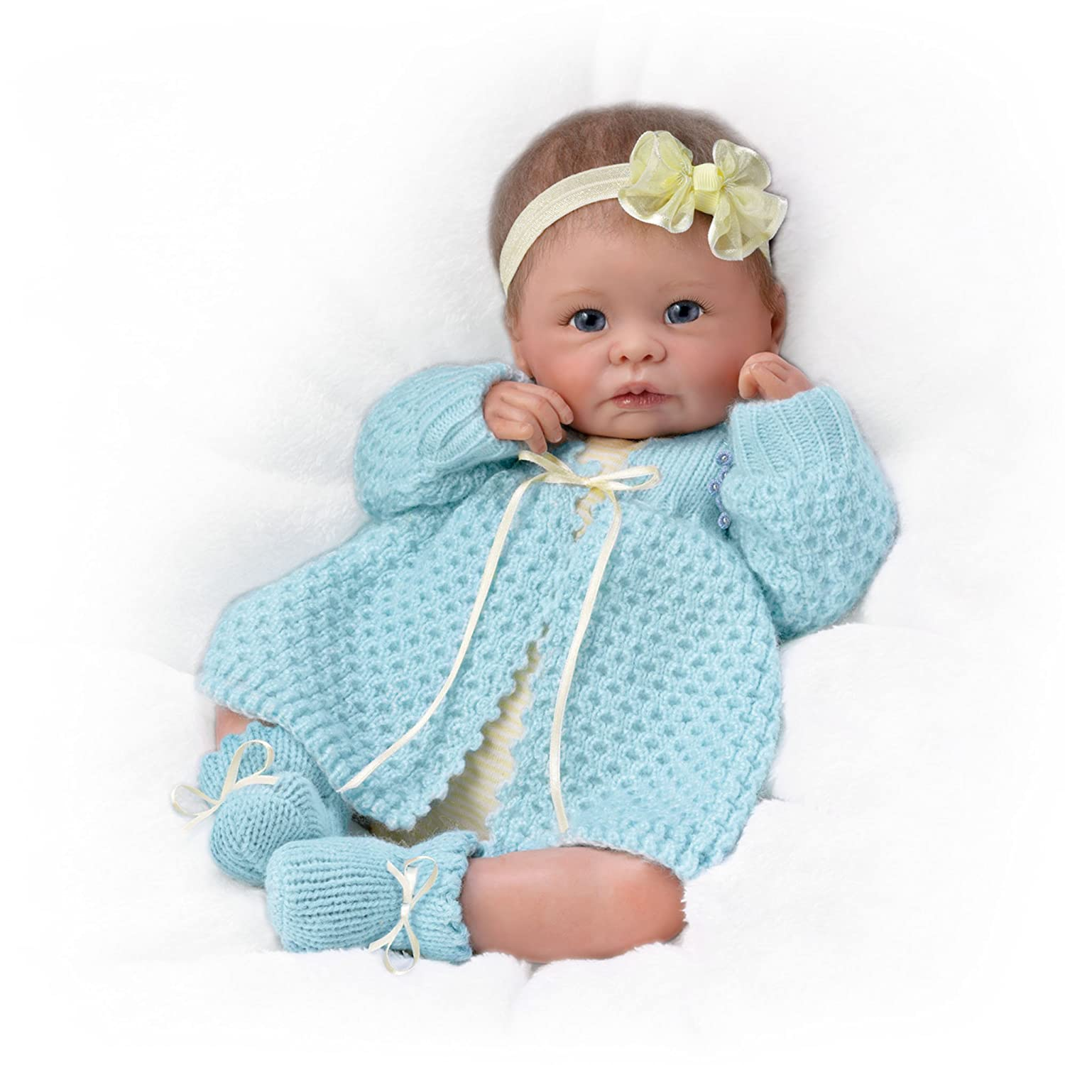 Ashton Drake 'Sweetly Snuggled' - Poseable Weighted Lifelike Baby Doll by Linda Murray - RealTouch Vinyl Skin The Ashton Drake Galleries