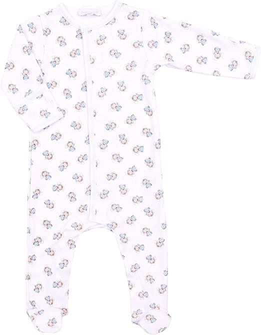 Magnolia Baby Unisex Baby Vintage Baby Printed Zipped Footie Celery