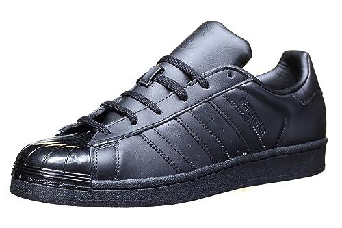 Adidas - Adidas Superstar Glossy Toe W Donna Nere - Nero, 44