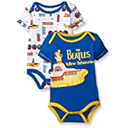 The Beatles Baby Boys' Value Pack Bodysuits, Blue, 6-9 Months